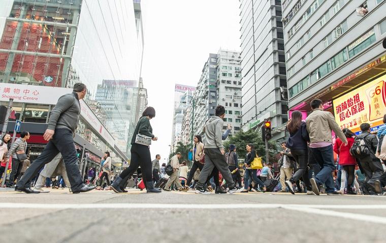 人口が多いイメージの街、香港